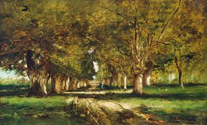 Mihaly Munkacsy - Viale In Colpach