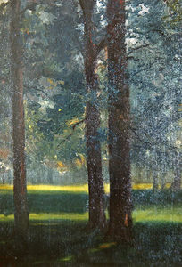 Théodore Casimir Roussel - a legno in autunno, l-ultimo `ray`