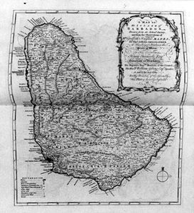 Thomas Jefferys - mappa Barbados