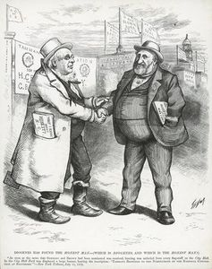 Thomas Nast - William capo Tweed e Horace Greeley