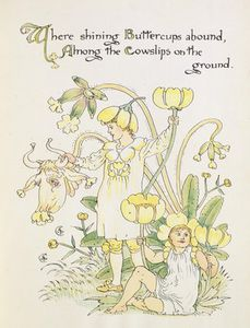 Walter Crane - Il Ranuncolo And The Cowslip