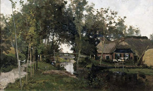 Willem Bastiaan Tholen - il piccolo Ponte , Giethoorn