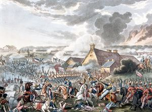 William Heath - La battaglia di Waterloo