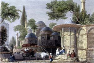 William Henry Bartlett - fontana e Moschea Di Chahzade