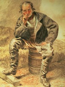 William Henry Hunt - Un Oysterman ,