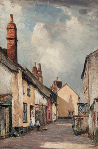 William Page Atkinson Wells - una strada in topsham , Devon
