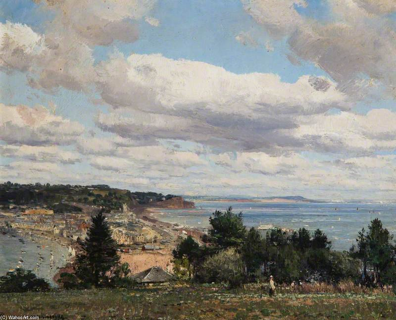 Teignmouth Da Torquay Strada di William Page Atkinson Wells (1871-1923, United Kingdom)