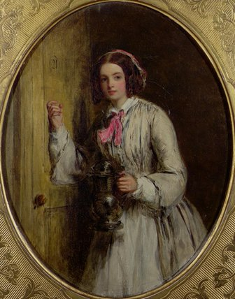 Un cameriera  con  Un  Bottiglione  di William Powell Frith (1819-1909, United Kingdom)