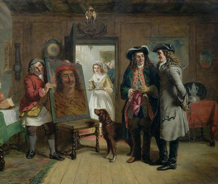 Signore roger de coverley e addison di William Powell Frith (1819-1909, United Kingdom) | Riproduzioni Di Qualità Del Museo | WahooArt.com