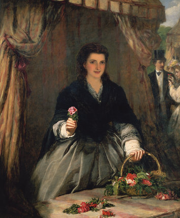 The Flower Seller di William Powell Frith (1819-1909, United Kingdom)