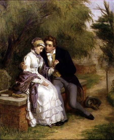 Il sedile del Lover - di William Powell Frith (1819-1909, United Kingdom)