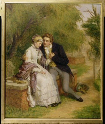 Il sedile del Lover di William Powell Frith (1819-1909, United Kingdom) | WahooArt.com