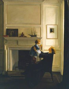 William Rothenstein - madre e figlio