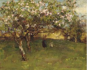 William Stewart Macgeorge - In The Orchard