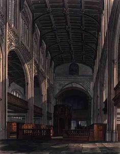 William Westall - interno di Cattedrale di st . Mary-s Chiesa , Cambridge