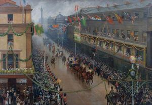 Wilson Hepple - Re Edward Vii's progressi attraverso newcastle upon tyne