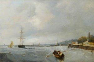 John Sell Cotman - Southend , pier hill