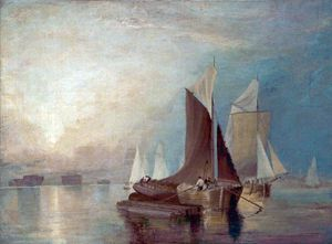 John Sell Cotman - Stangate Torrente sul Medway
