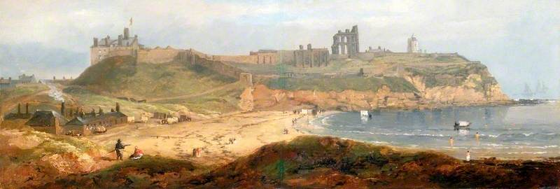 Priory and Castle, Tynemouth di John Wilson Carmichael (1800-1868, United Kingdom)