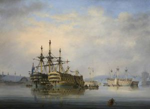 Nicholas Condy - inner harbour , Plymouth