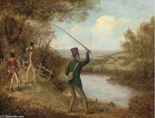 Un Fly-fisherman Colata Un Volo di Samuel John Egbert Jones (1797-1861, United Kingdom)