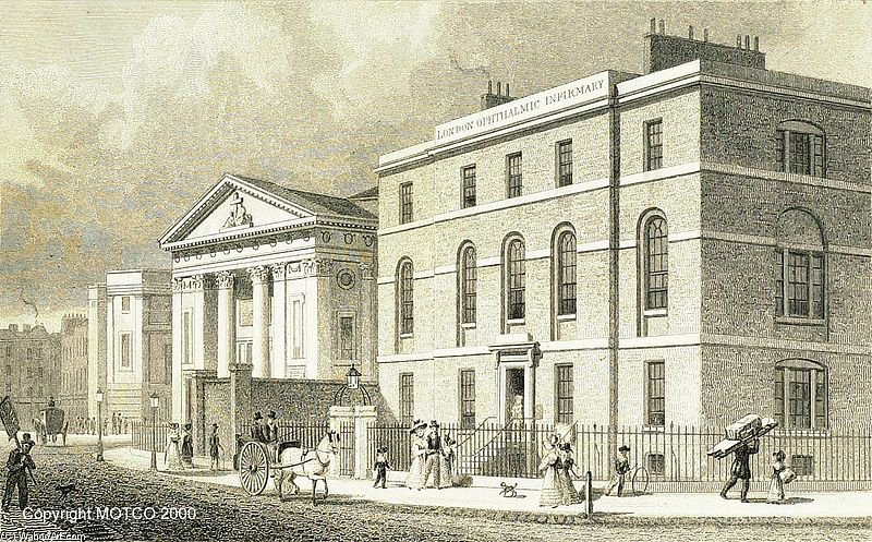 London Ophthalmic Infirmary, Finsbury di Thomas Hosmer Shepherd (1792-1864, United Kingdom) | WahooArt.com