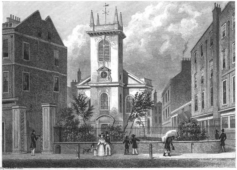 St Olave Old Jewry di Thomas Hosmer Shepherd (1792-1864, United Kingdom)