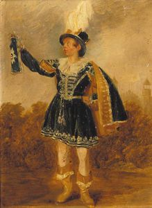 Thomas George Webster - ritratto di george Goldney , Piccolo Full-length , in montem Abito , eton college Oltre