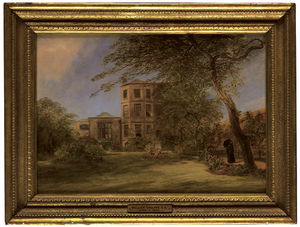 William Collins - Vista della casa di Sir David Wilkie In Vicarage Place, Kensington, From The Back Garden
