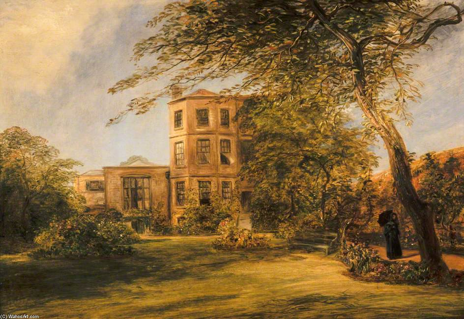 veduta di Signore David Wilkie`s casa in Canonica Posto , Kensington di William Collins (1824-1889, United Kingdom) | Riproduzioni Di Quadri William Collins | WahooArt.com