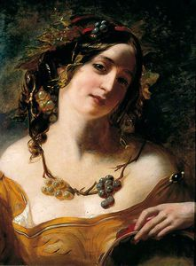 William Etty - A Baccante