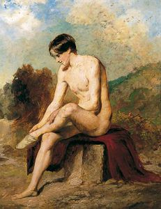 William Etty - Un Bagnante