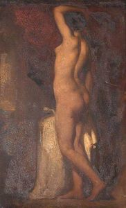 William Etty - una Standing femminile Nudo