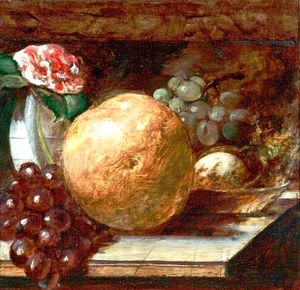 William Etty - Frutta pompelmo  e le  arance