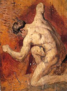 William Etty - nudo maschile -