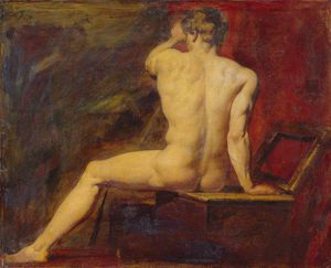 William Etty - studio di maschile  Nudo