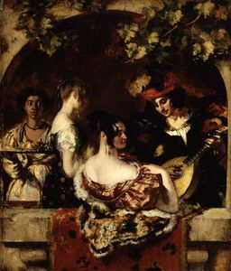 William Etty - Il Suonatore di liuto