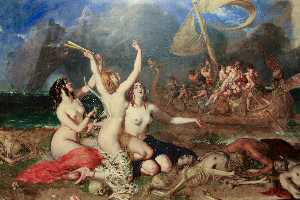 William Etty - le sirene e le  Ulisse
