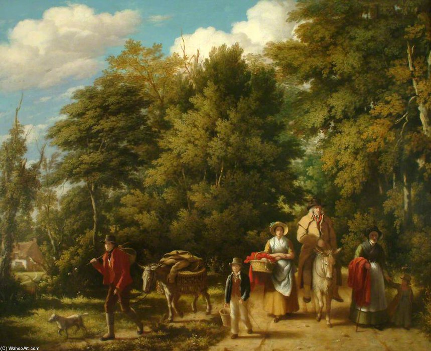 Andare al mercato di William Frederick Witherington (1785-1865, United Kingdom)