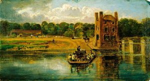 William Havell - Il Tamigi A Datchet Ferry
