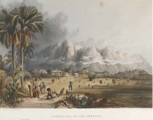 viste in il interni Di Guiana di Charles Bentley (1805-1854, United Kingdom)