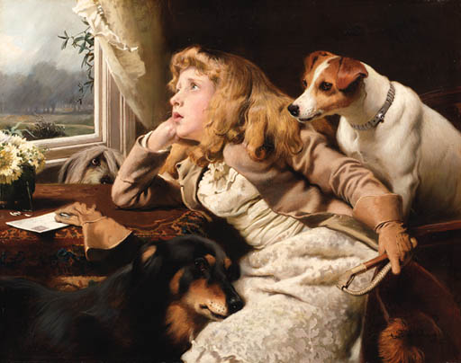 No Giro Oggi di Charles Burton Barber (1845-1894, United Kingdom)