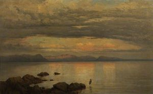 George Edwards Hering - cercando verso est  in tempo  Tramonto