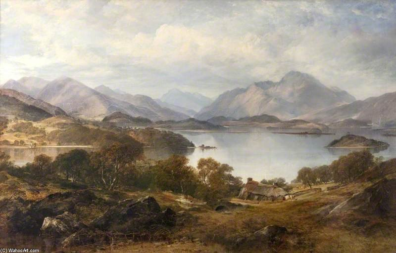Lago Lomond di Horatio Mcculloch (1805-1867, United Kingdom)