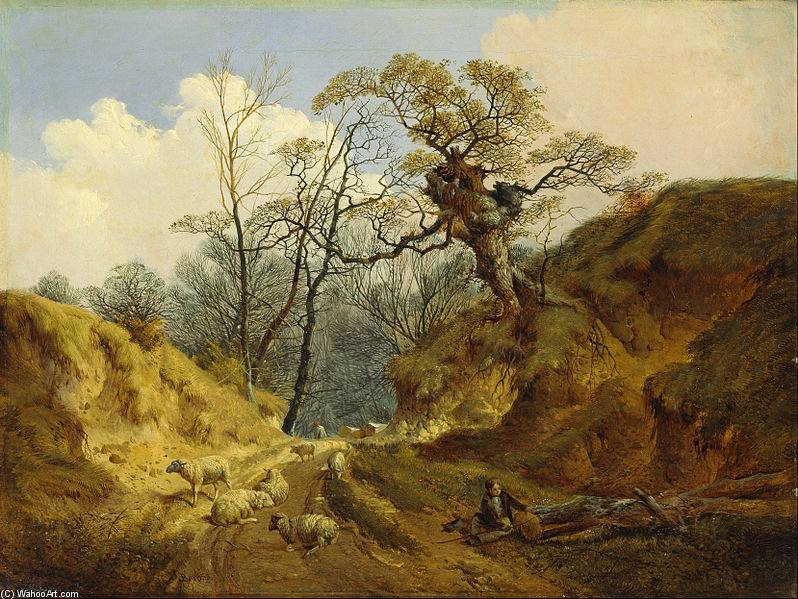 Crown Point, Whitlingham, vicino a Norwich di John Berney Ladbrooke (1803-1879, United Kingdom)