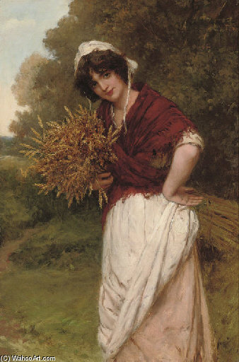 Raccolta The Corn di William Oliver (1805-1853, United Kingdom) | WahooArt.com