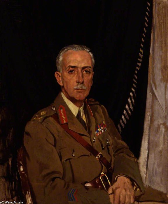 Charles Sackville-west , 4th Barone Sackville di William Newenham Montague Orpen (1878-1931, Ireland) | Stampe D'arte Su Tela | WahooArt.com