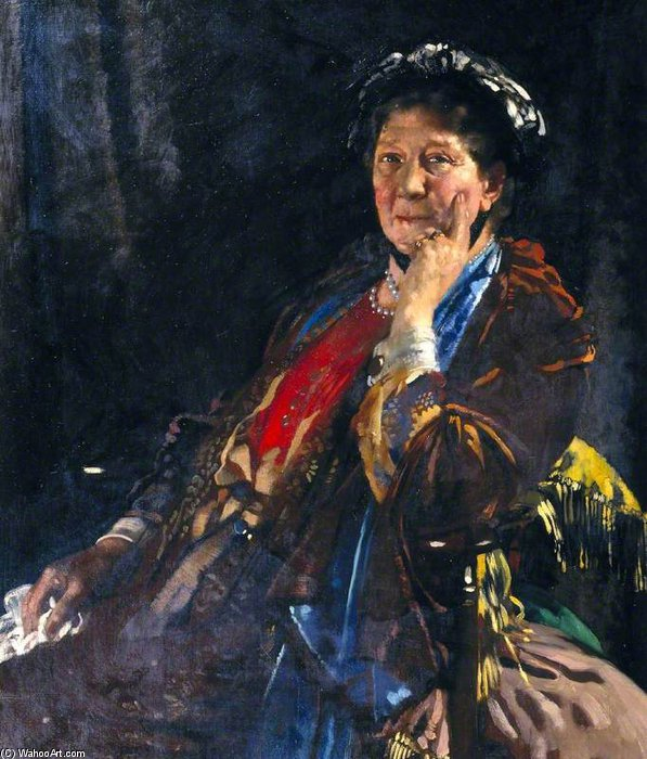 Dame Madge Kendal di William Newenham Montague Orpen (1878-1931, Ireland)