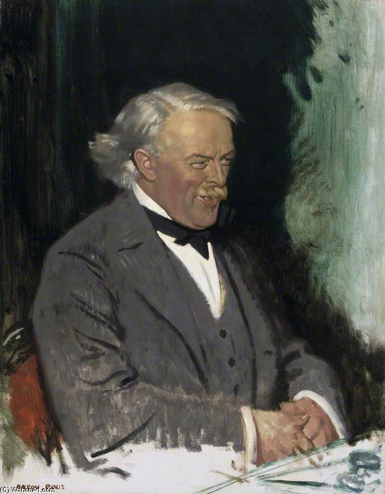 david lloyd Giorgio - di William Newenham Montague Orpen (1878-1931, Ireland) | Riproduzione Art | WahooArt.com