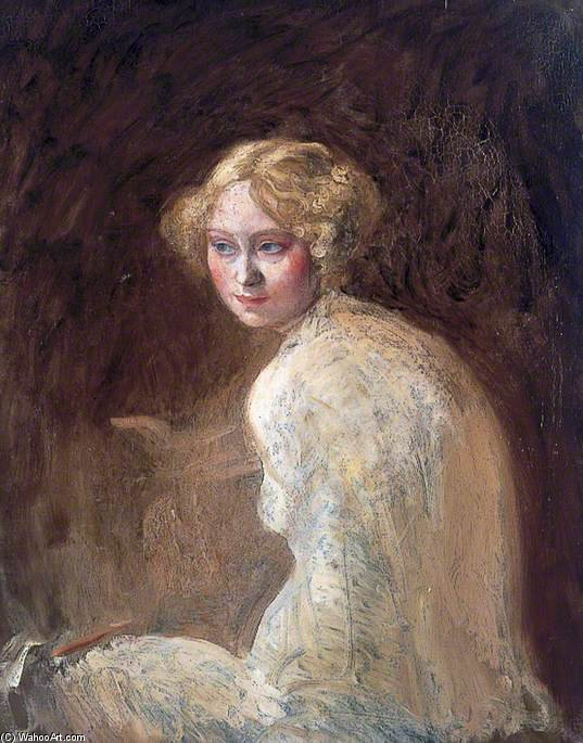 testa di un ragazza di William Newenham Montague Orpen (1878-1931, Ireland) | WahooArt.com